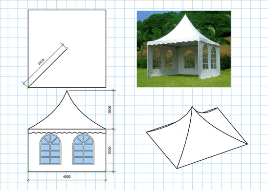 Simple marquee design in Vectorworks